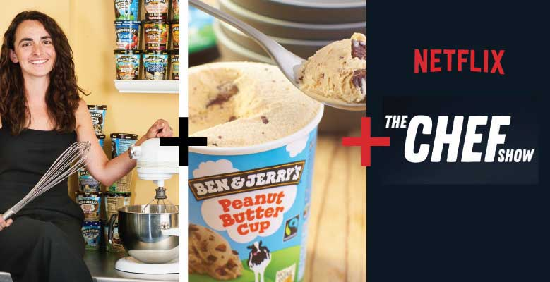 A pairing of Ben & Jerry's ice cream and Netflix show suggested by a flavor guru