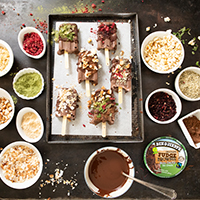 Fancy Veganska Fudge Pops